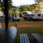 Blackall Caravan Park -Camp Kitchen at Dusk